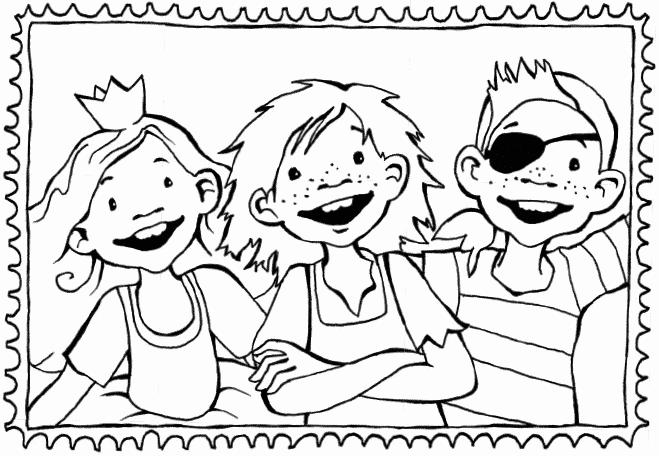 Briefmarke Ausmalbild