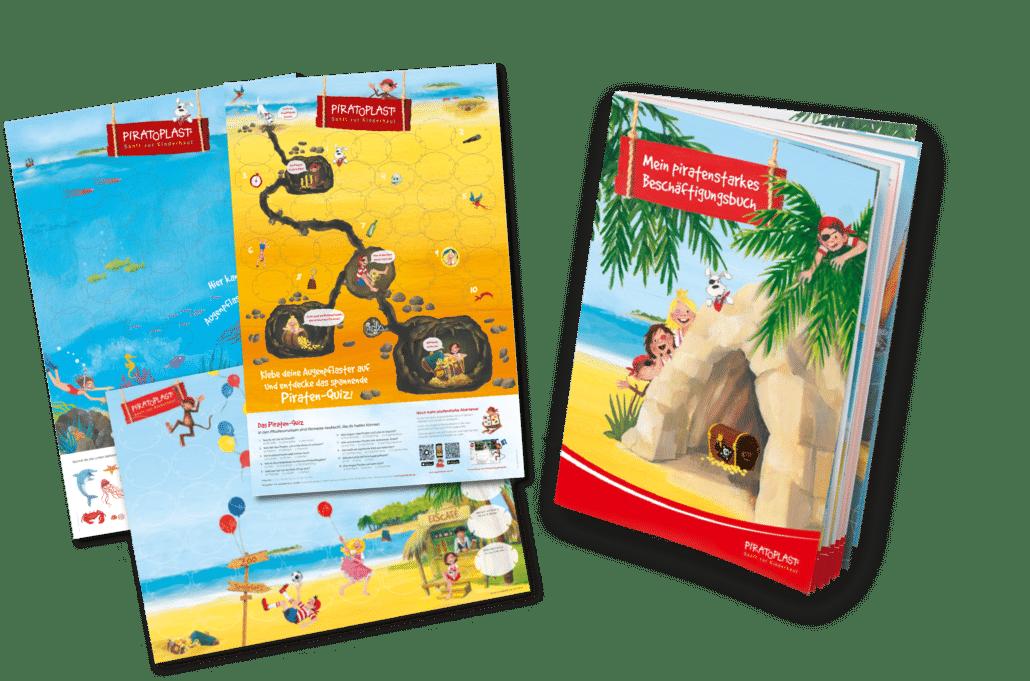 Sammelposter und Beschäftigungsbuch