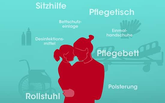 Pflegehilfsmittel beantragen für die Pflege bei Epidermolysis bullosa